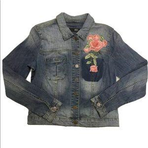 Kut From The Kloth Jean Jacket Sz Large Blue Denim